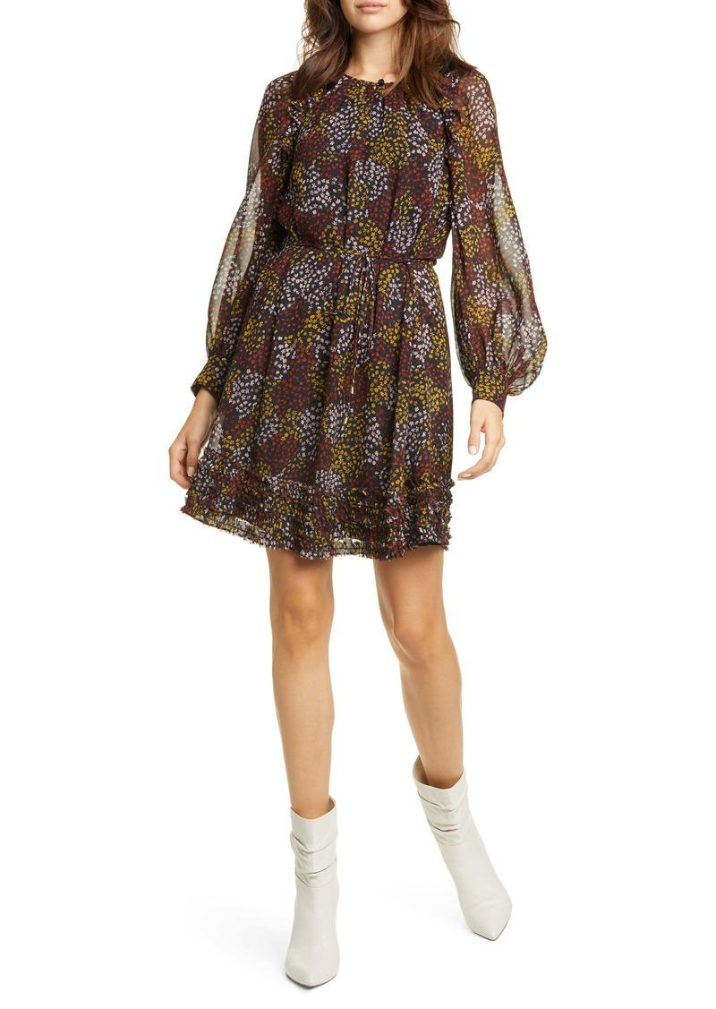 Joie Donetta Floral Long Sleeve Silk Dress