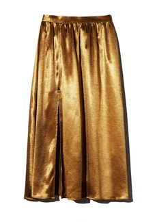 Joie Duffy Satin Midi Skirt