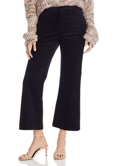 Joie Duke Cropped Wide-Leg Corduroy Pants