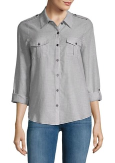 Joie Dumas Pinstripe Button-Down Shirt