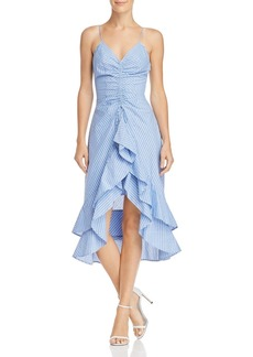 Joie Eberta Striped Ruffle Dress