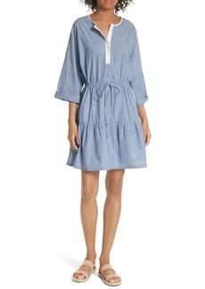 Joie Ecidra Drawstring Waist Chambray Dress