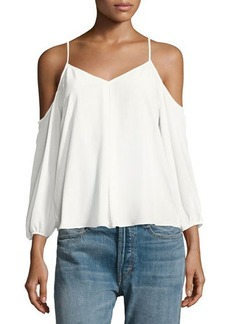 Joie Eclipse Cold-Shoulder Silk Blouse