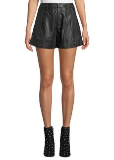 Joie Editha High-Rise Leather Shorts