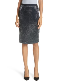 Joie Edryce Beaded Pencil Skirt