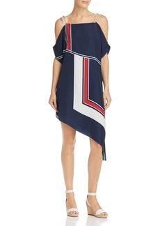 Joie Edyte Color-Blocked Cold-Shoulder Dress