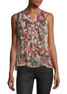 Joie Effa Floral-Print Silk Top