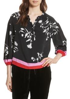 Joie Eilga Floral Silk Blouse