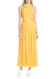 Joie Elenita Pleated Chiffon Dress