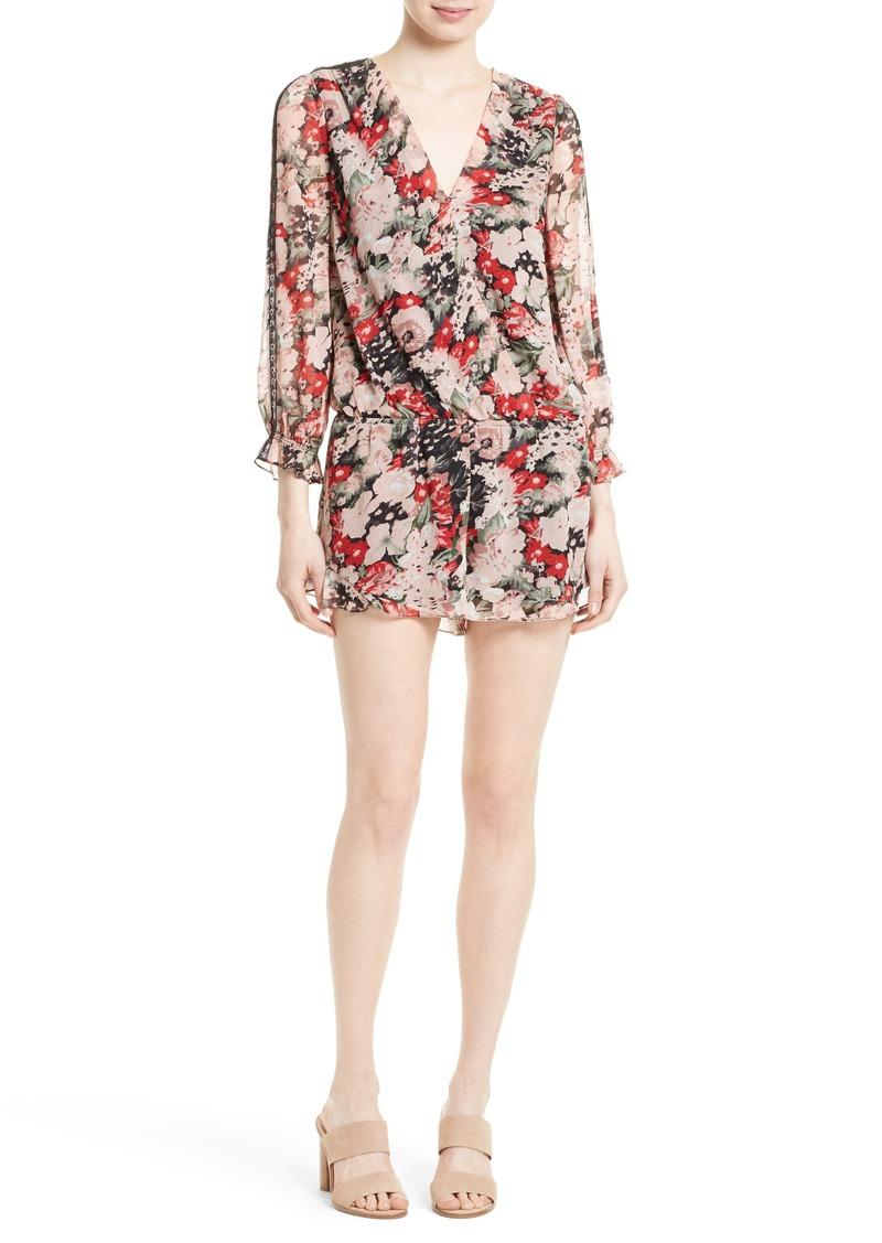 Joie Ellar Floral Silk Romper