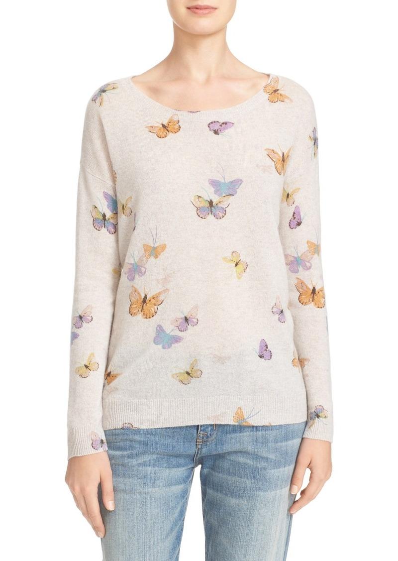 Joie Joie Eloisa Butterfly Print Cashmere Sweater | Sweaters ...