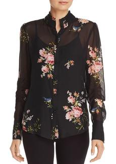 Joie Elzie Silk Floral Blouse