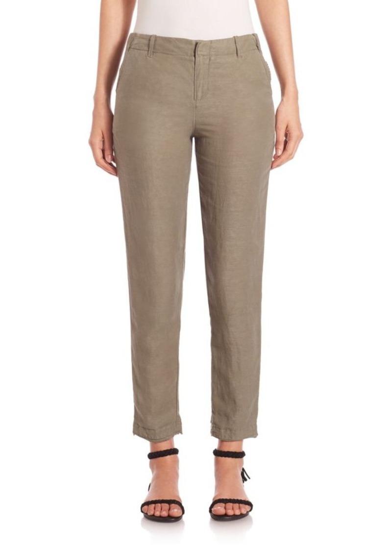 Joie Enna Linen-Blend Crop Pants