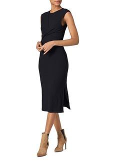 Joie Eos Twist-Front Textured Dress