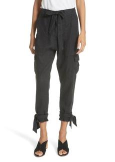 Joie Erlette Linen Tie Cuff Crop Pants