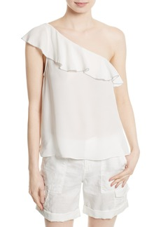 Joie Ernesta Silk One-Shoulder Top