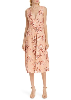 Joie Ethelda Floral Midi Linen Dress