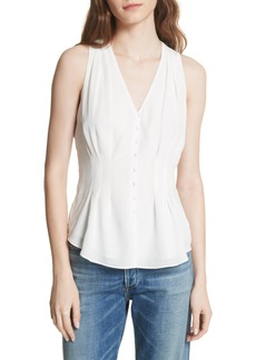 Joie Eulalia Woven Sleeveless Silk Top