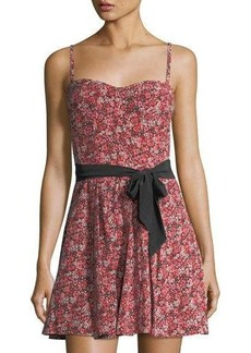 Joie Exie Floral-Print Silk Dress