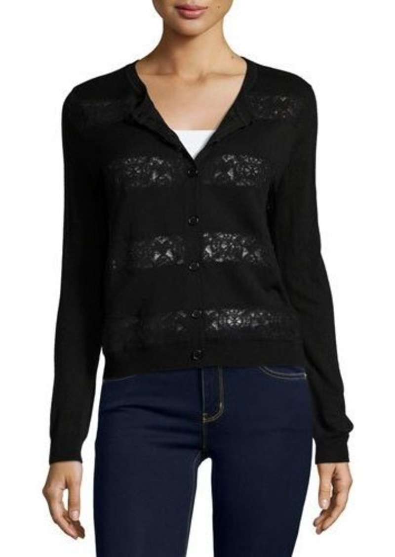 Joie Joie Fabiana Lace-Trim Cardigan | Sweaters - Shop It To Me