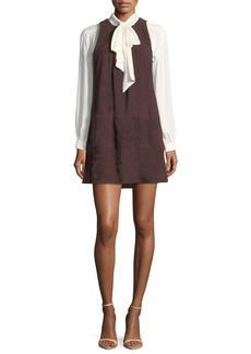 Joie Fafhia C Sleeveless Suede Mini Dress