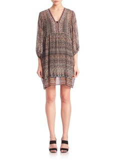 Joie Fawn Paisley Printed Silk Dress