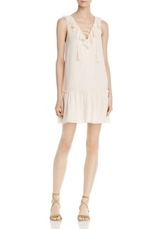 Joie Felip Lace-Up Silk Dress