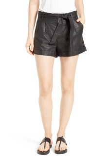 Joie Flavie Leather Shorts