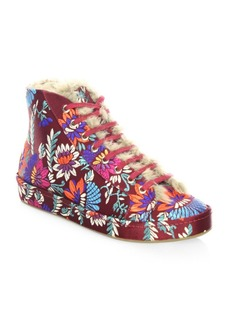 Joie Floral High-Top Sneakers
