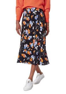 Joie Brystal Floral Print Midi Skirt