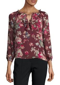 Joie Floral-Print Silk Blouse