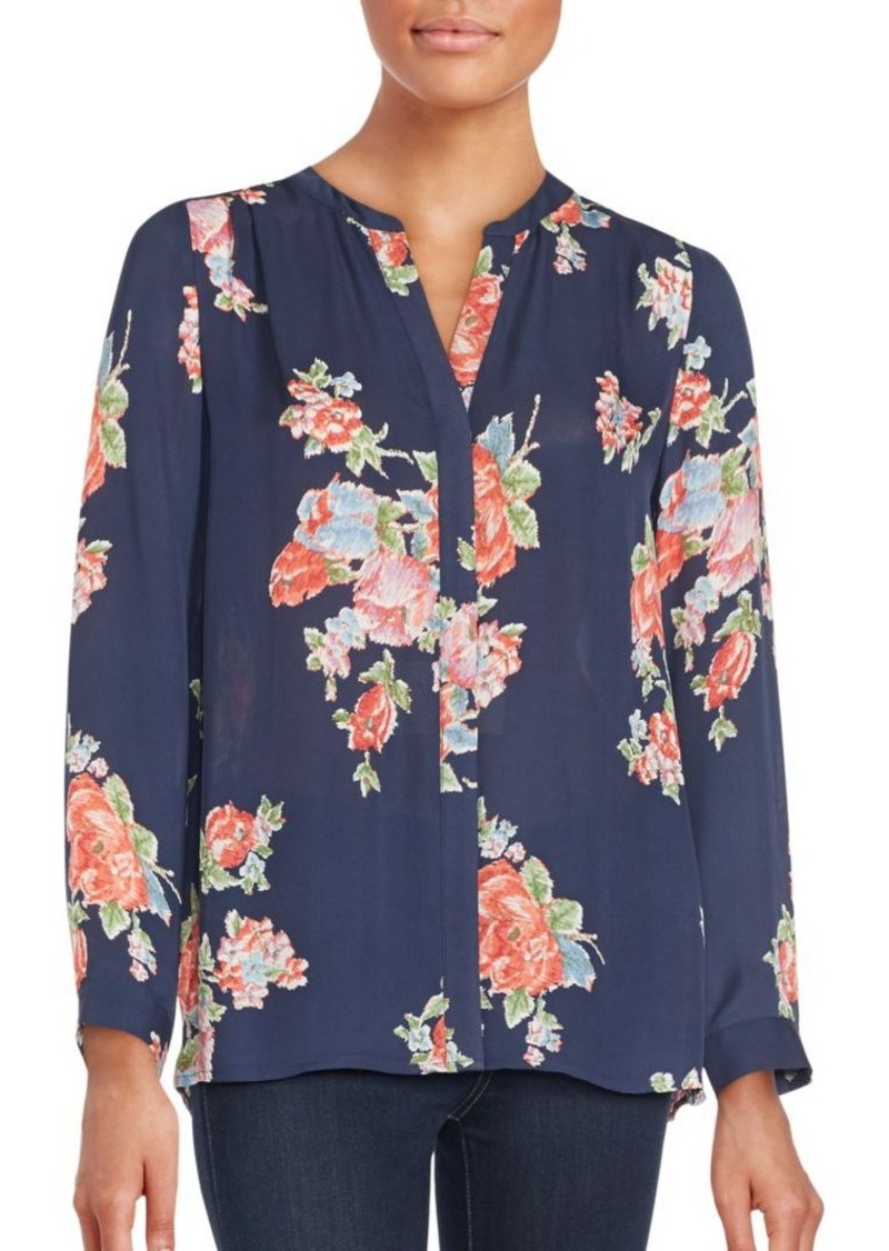 Joie Floral Print Silk Top