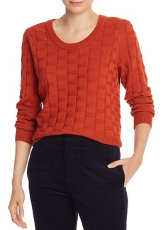 Joie Florente Basket-Weave Knit Sweater