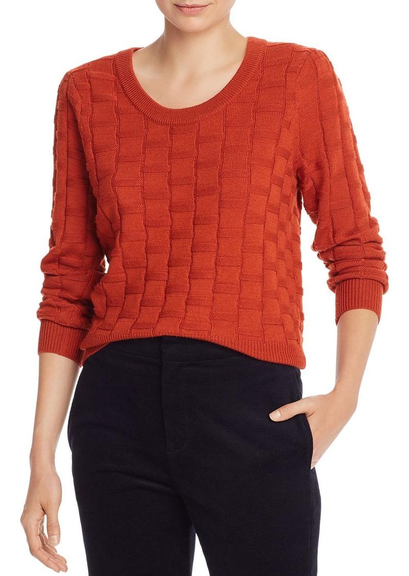 Joie Florente Basket-Weave Knit Sweater