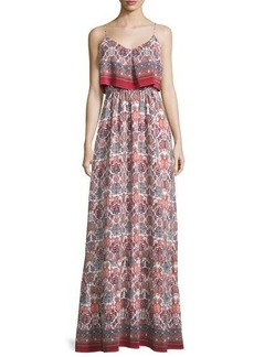 Joie Florina Folkloric Silk Maxi Dress