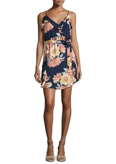 Joie Foxglove Floral-Print Silk Wrap Dress