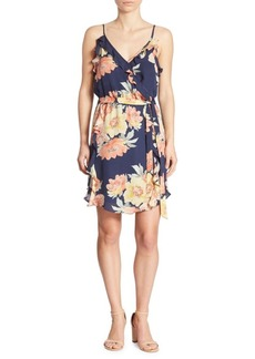 Joie Foxglove Floral Ruffled Dress