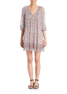 Joie Foxley Printed Silk Shift Dress
