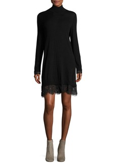 Joie Fredrika B Turtleneck Lace Dress
