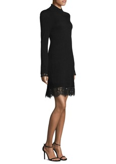Joie Fredrika Lace Hem Sweater Dress
