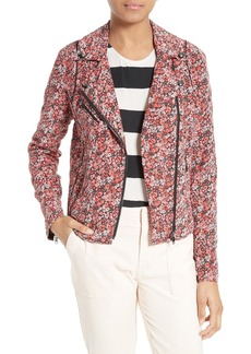 Joie Frona Quilted Floral Silk Jacket