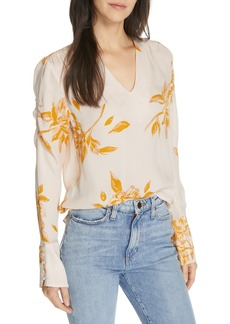 Joie Galvin Floral Silk Top
