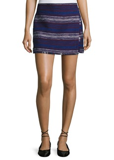 Joie Genae Striped Tweed Fringe Skirt