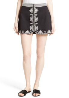 Joie Genovefa Embroidered Skirt