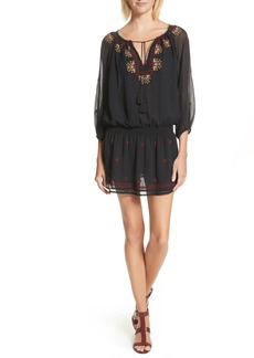 Joie Geromine Blouson Silk Dress