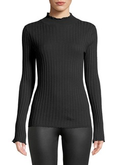 Joie Gestina Ribbed Mock-Neck Sweater