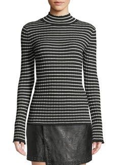 Joie Gestina Striped Mock-Neck Sweater
