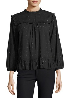 Joie Gianella Long-Sleeve Poplin Blouse