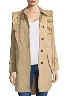Joie Gila Ruffle Trench Coat
