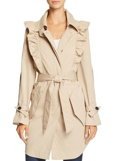 Joie Gila Ruffled Trench Coat